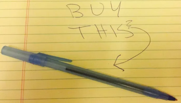 "How to respond to ""Sell me this pen"" in an interview"
